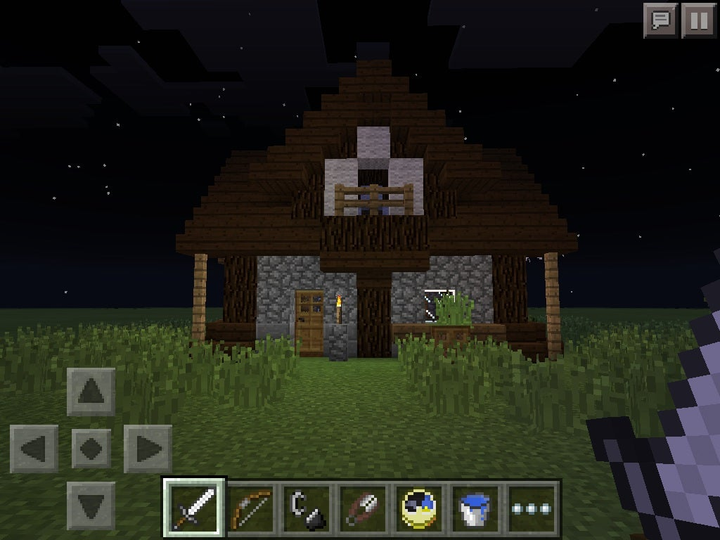 Minecraft Pe Small Medieval House 7 Steps Instructables