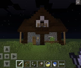Minecraft pe Small Medieval House