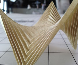 Laser Etched Paper for Folding Complex Forms