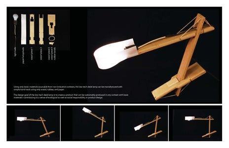 Low-tech Articulated Desk Lamp