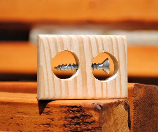 Impossible Screw in a Block of Wood