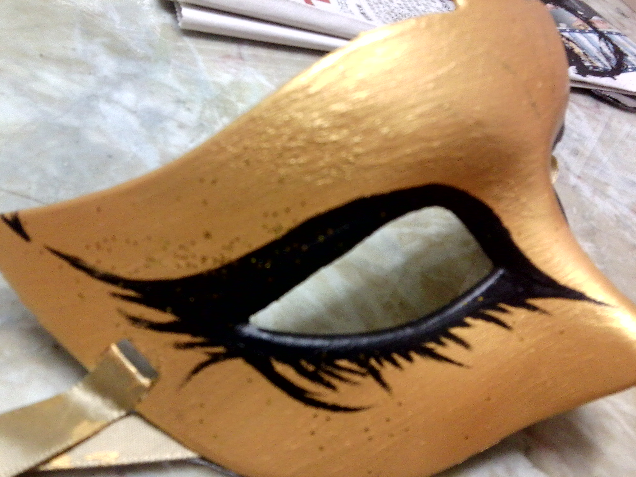 Picture of Black Swan Inspired Mask for School Masquerade Dance