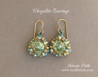 Beaded Earrings - Half Tila Bezel - Jewelry Making Tutorial