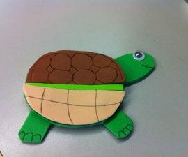 Movable Paper Foam Turtle
