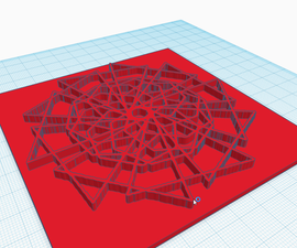 3D Geometric Art Impression Tile (Tinkercad & Scratch)