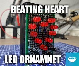 Beating Heart LED Valentine Ornament