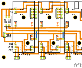3 Axis EasyDriver PCB