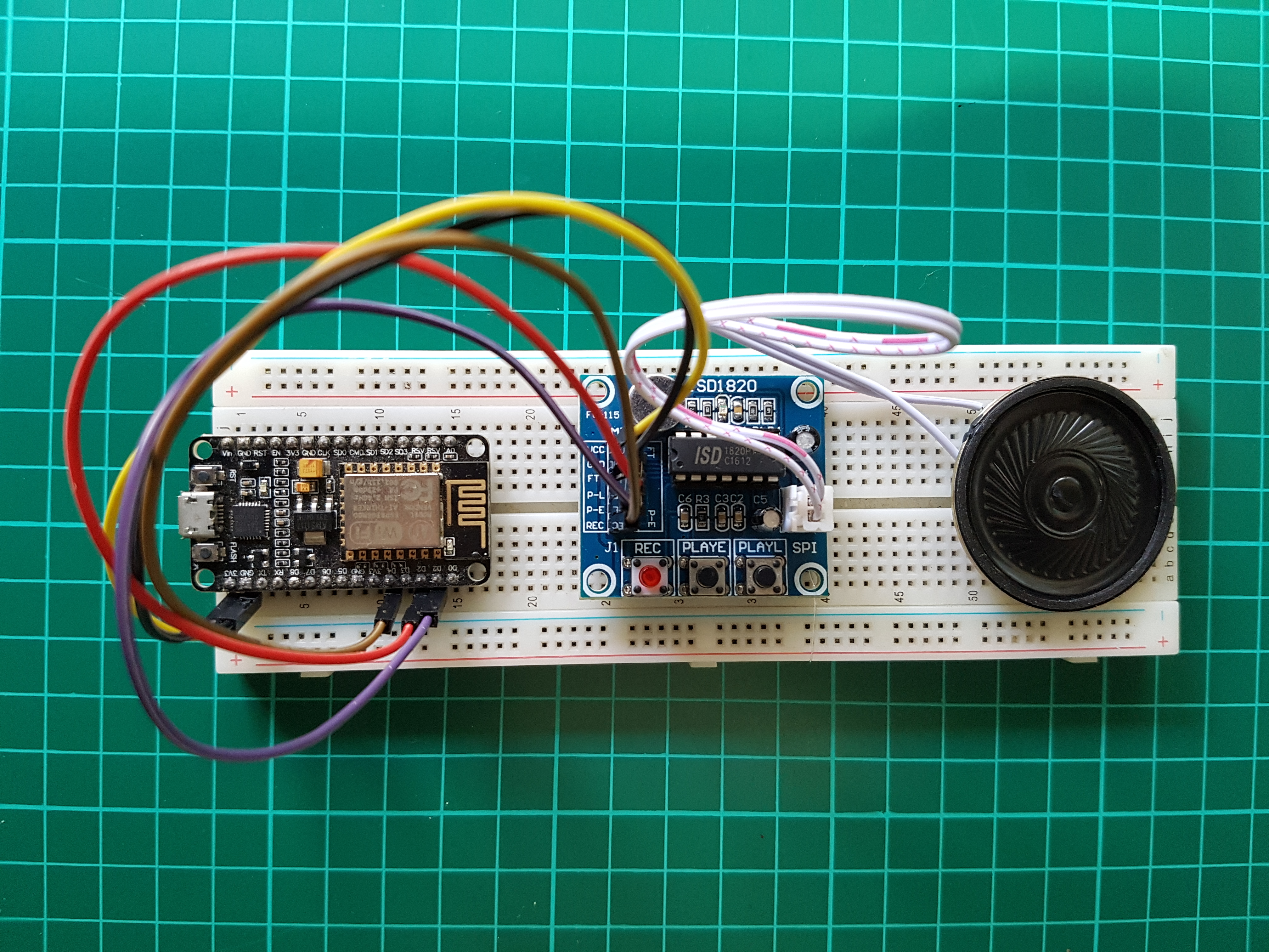 Picture of NodeMcu Speak With ISD1820 Module