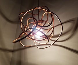 Copper Coil Lampshade