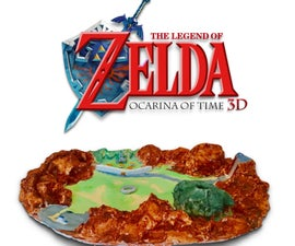 3D Hyrule Map From the Legend of Zelda: Ocarina of Time