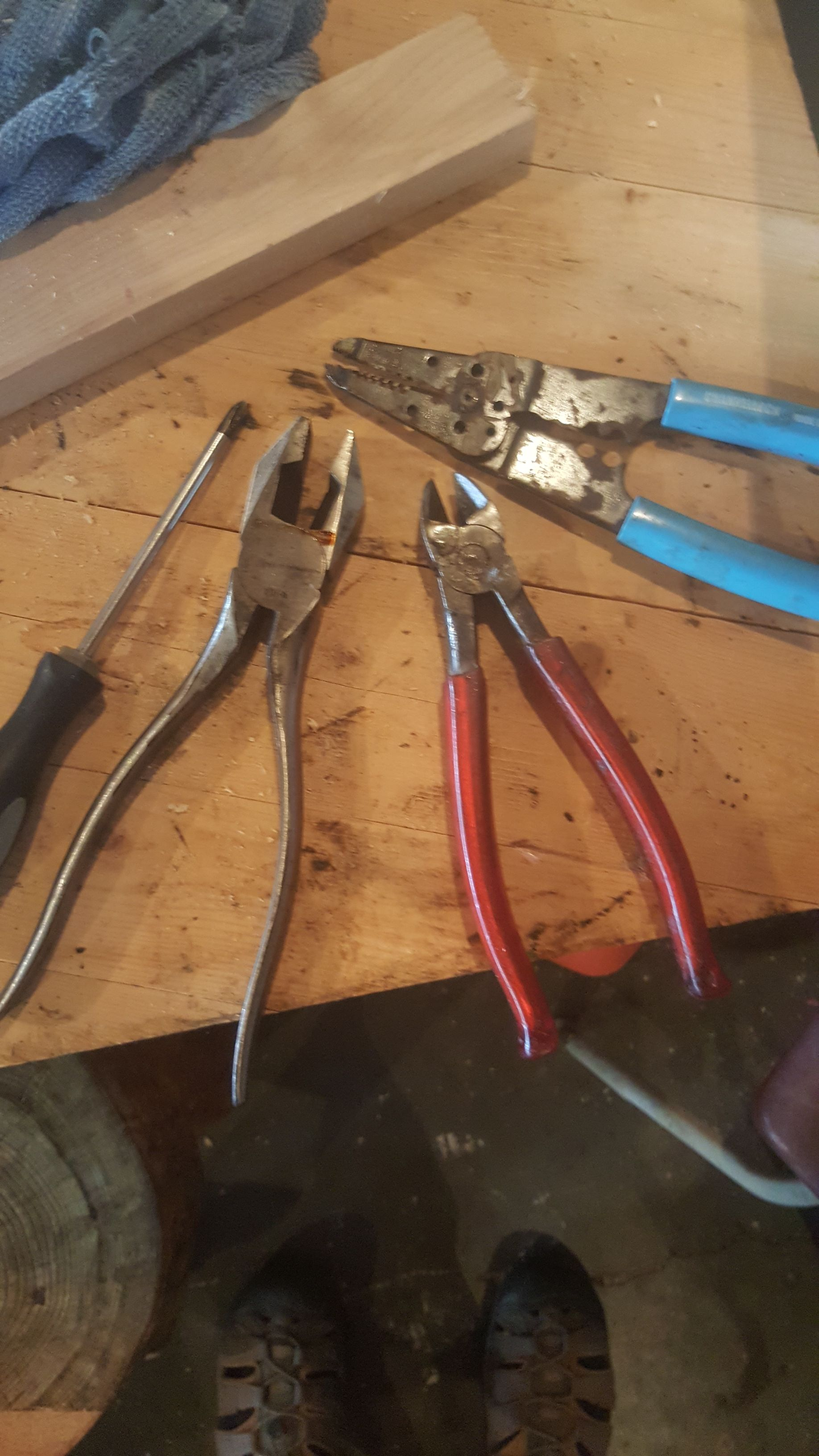 Picture of Ingredients.  First You Need Some Damaged or Broken Cords. and a Couple Tools.