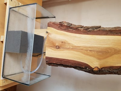 Connect Aquarium, Pump and Wood Stand Together