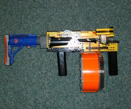 The First fully automatic, clip fead, LEGO Nerf gun: Raptor CS-35