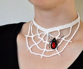 Crochet Spider Web Necklace