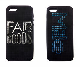 DIY cross-stitched iPhone case