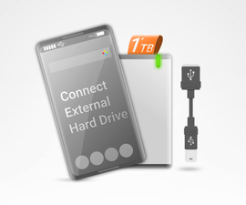 Connect External Hard Drive to Android Smartphone