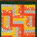 Cheery Mini Orange Strip Quilt