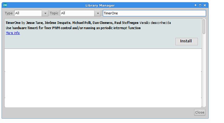 Picture of Install the Arduino IDE and TimerOne.h Library