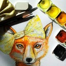How to paint a fox in watercolour