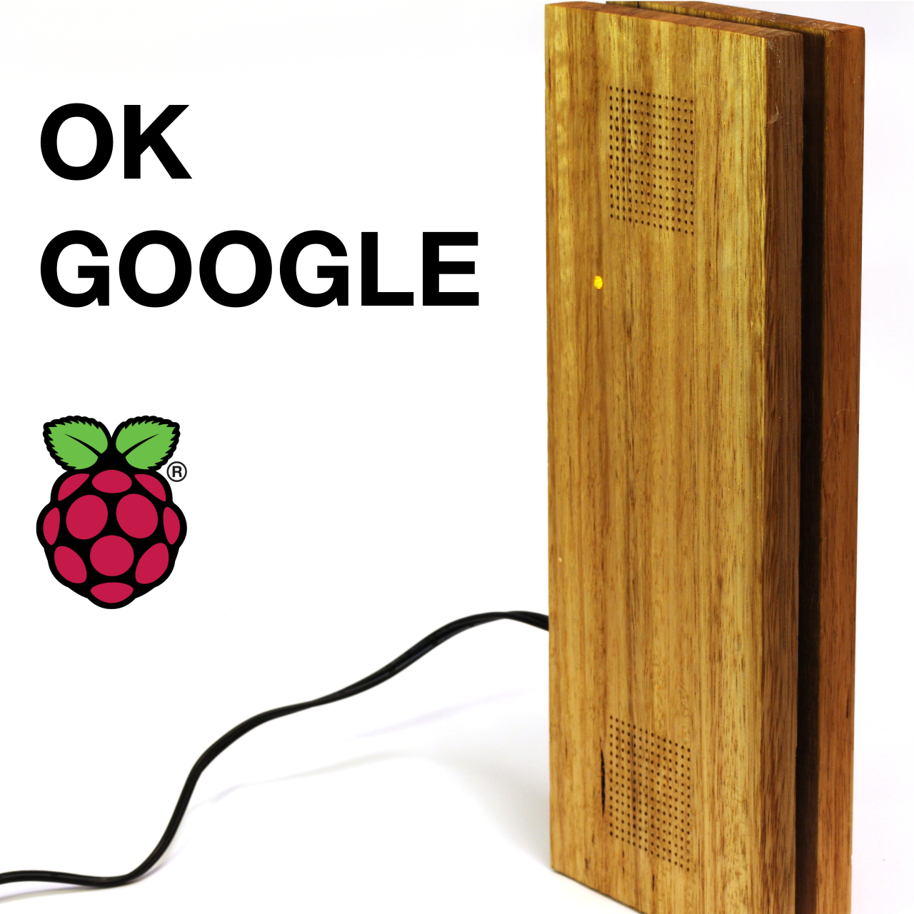 Picture of Raspberry Pi Google Assistant With Sleek Wood Box
