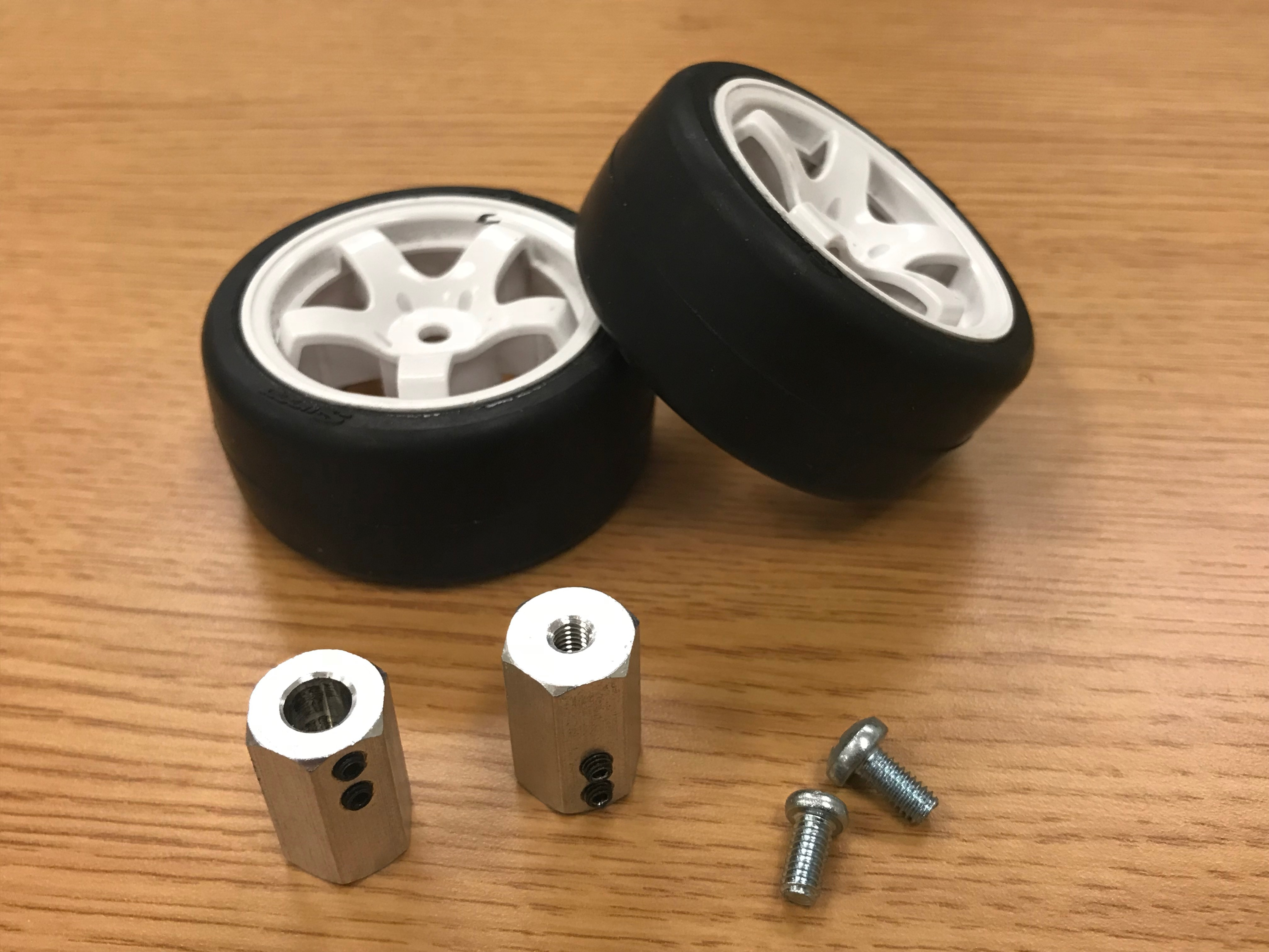 Picture of Attach Hex Adapters Onto 2 Wheels