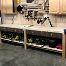 $100 10ft Work Bench/Surface With Storage