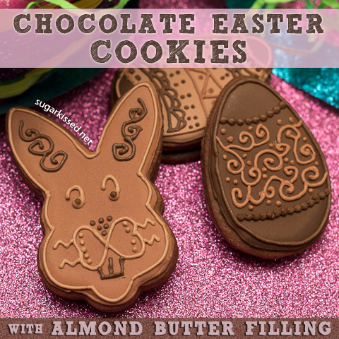 Picture of Chocolate Easter Cookies With Almond Butter Filling