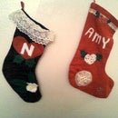 Make your own creative Xmas stockings from felt and scraps