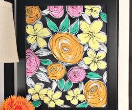 Paint Vintage Flowers