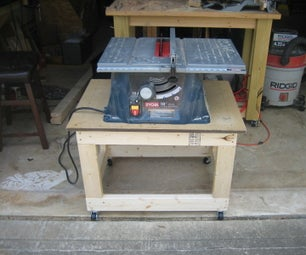MY SMALL TABLE SAW CART