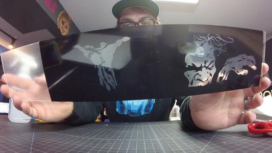 Preparing / Adding Vinyl Decal to Acrylic Sheet