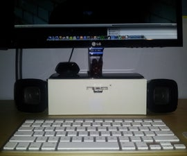 Monitor Stand for Mac Mini With USB Hub and Speakers