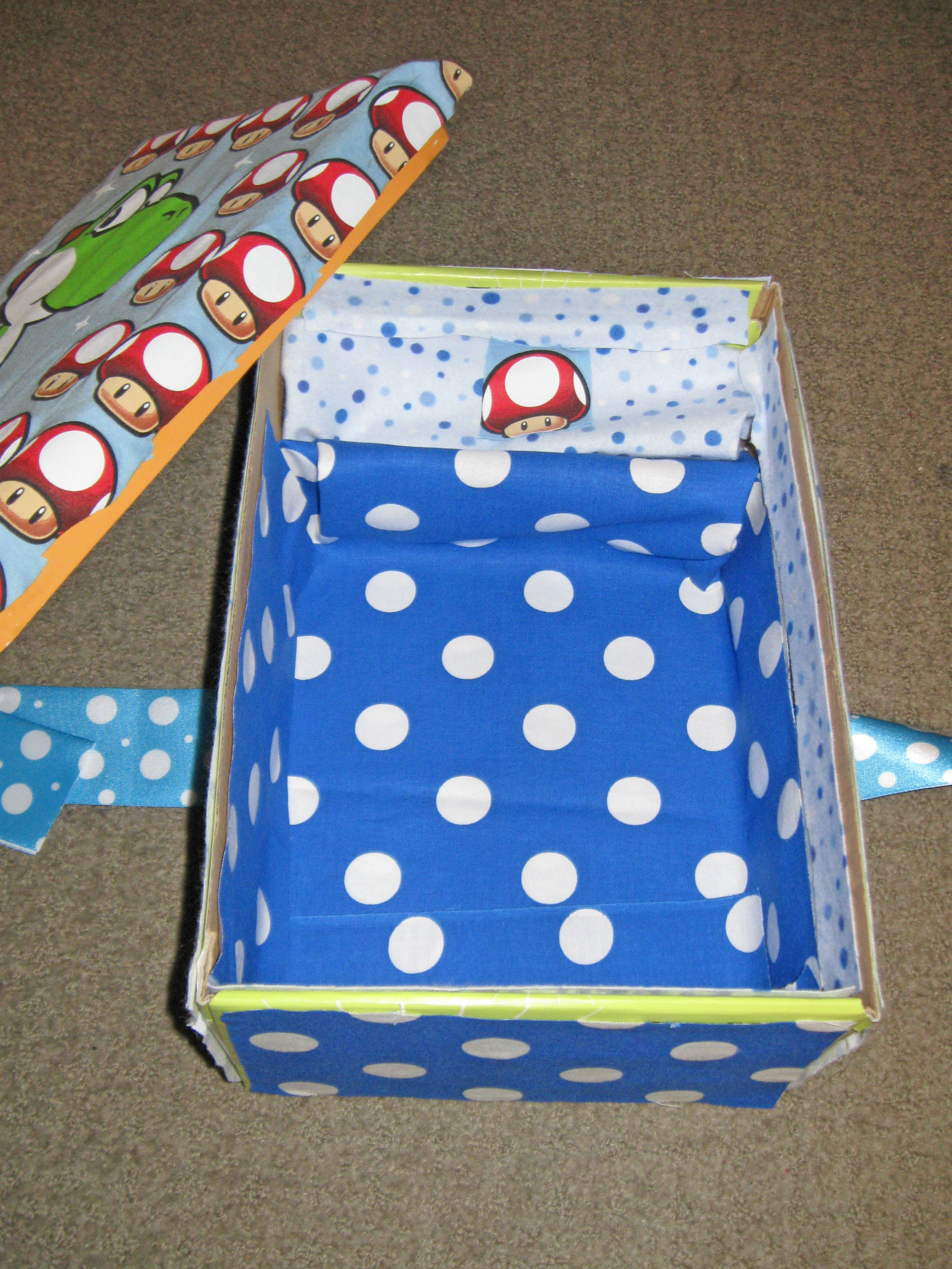Picture of Crafty Mii: Create a Shoebox Storage Kit for Your Wii!