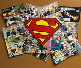 Cardboard Comic Superhero Collage