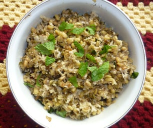 A Nutritious Vegan Dish With Sprouted Whole Green Gram Lentils