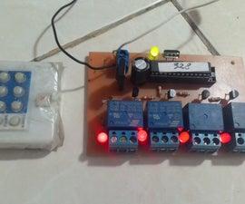 DIY PCB 4 Channel IR Remote Controller