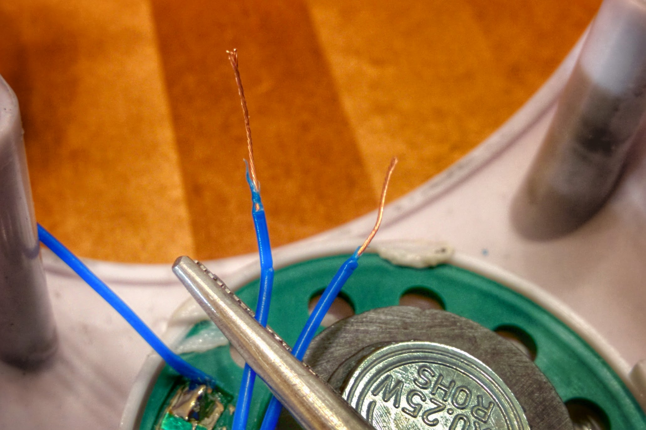 Picture of Cut a Speaker Wire and Strip the Ends
