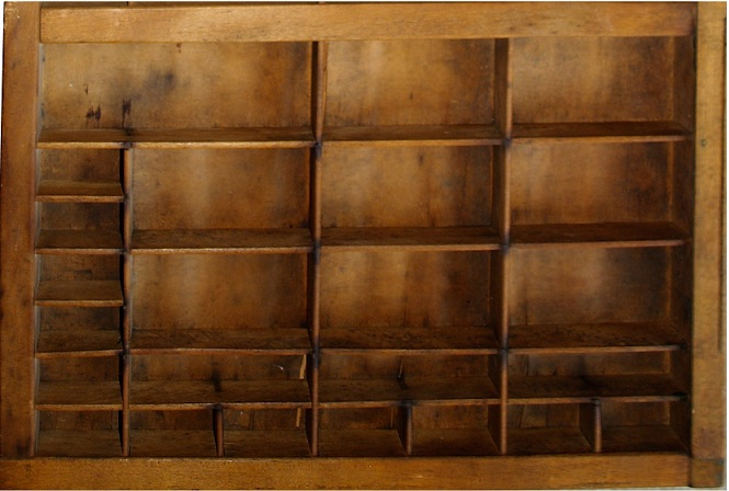 Picture of Type Case Printer's Drawer Up-cycled Spice Rack
