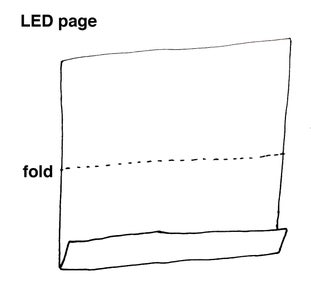 Fold You LED Page in Half