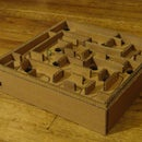 Popsicle Stick Marble Labyrinth