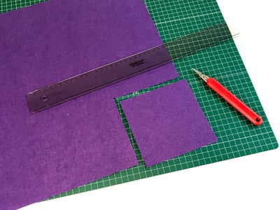 Cut Out a Square of Felt for Base (I Choose 13x13cm Size to Fit My Box)