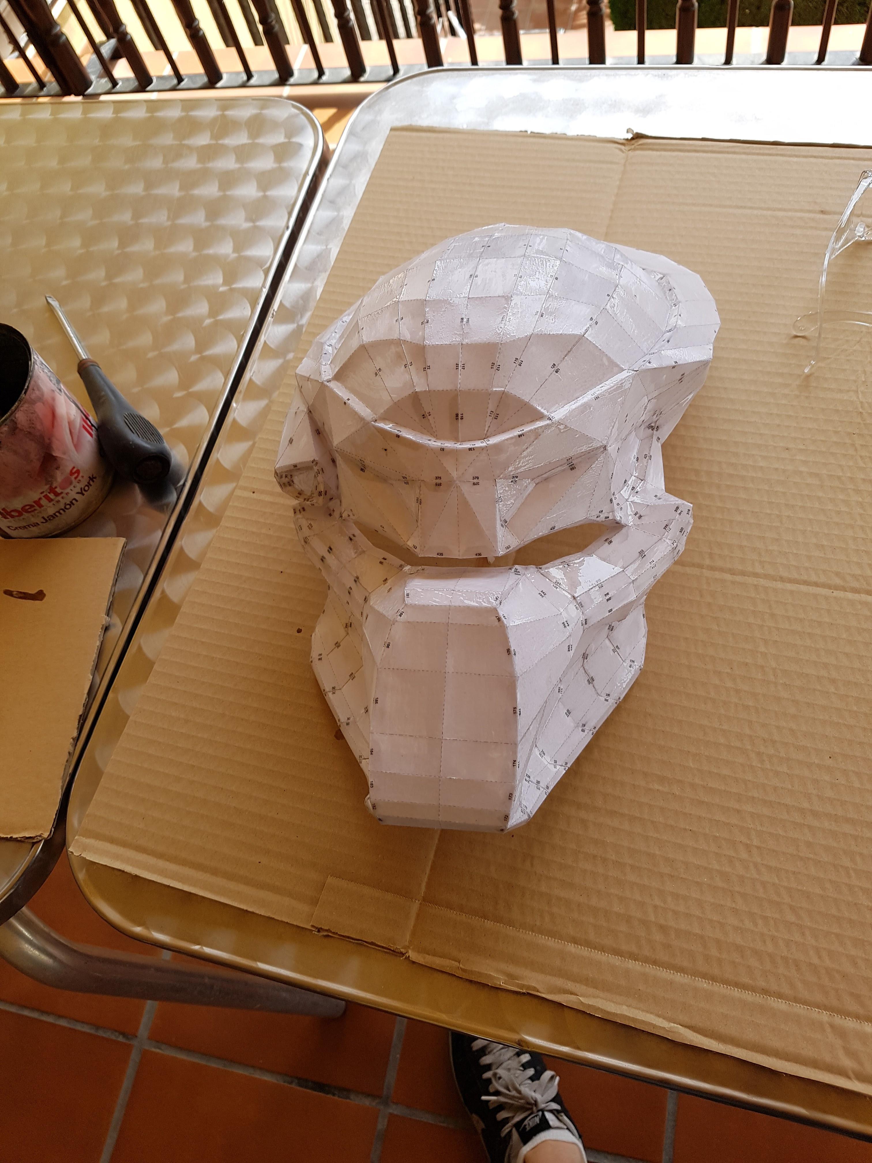 Picture of Hardening of the Bio-Helmete Predator Model