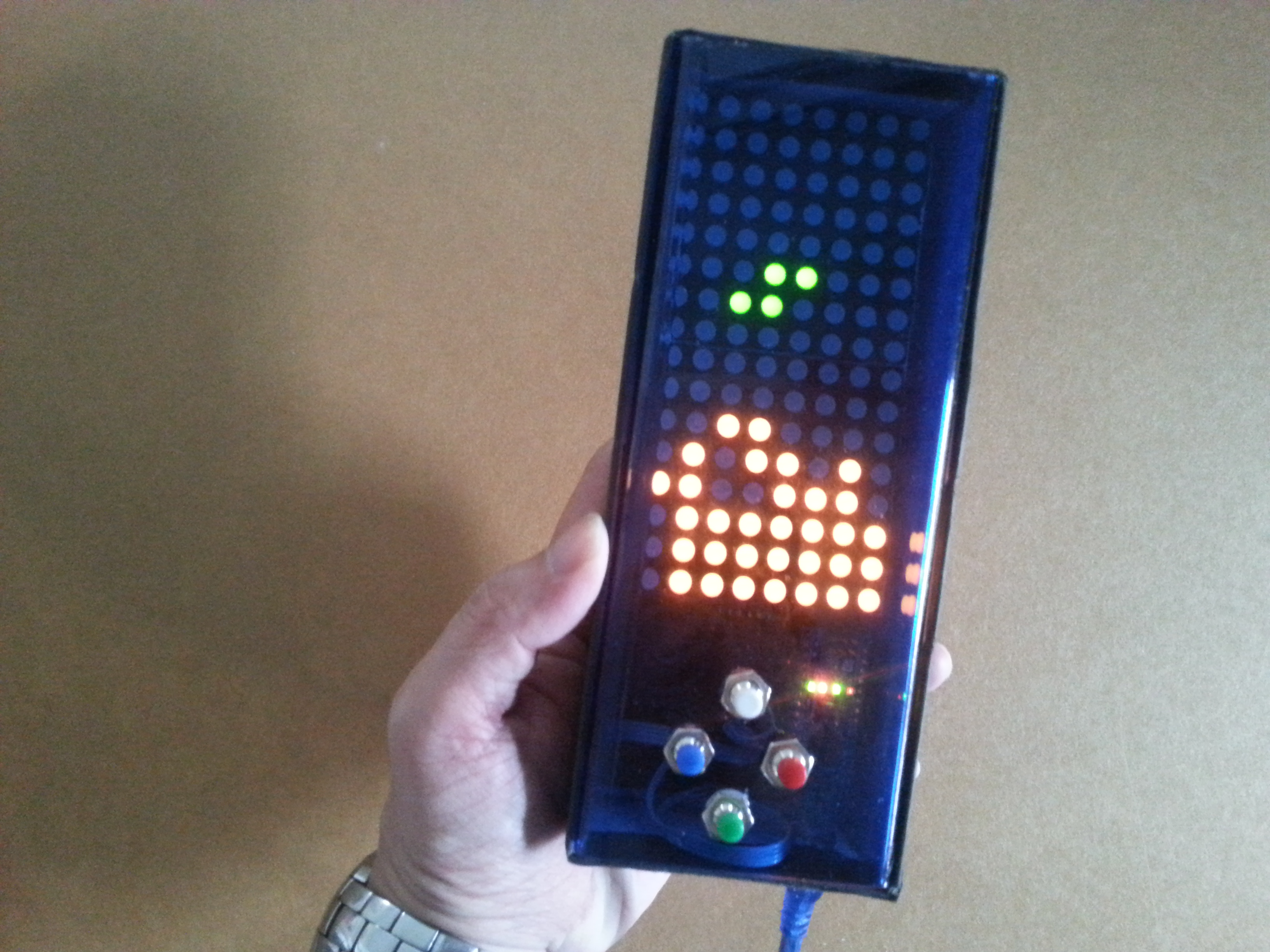 Picture of Arduino Based Bi-color LED Matrix Tetris Game