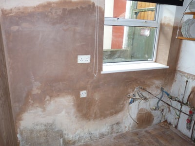 Make Good Any Walls That Require Replastering and Sort Out the Plumbing If Required