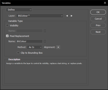 Create the Variables in Adobe Photoshop