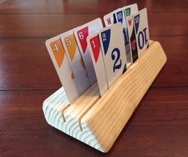 Wooden Playing Card Holder for Kids