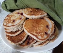 Hearty Nut Berry Pancakes