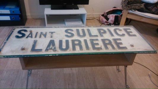 Cool French Road Sign Coffee Table