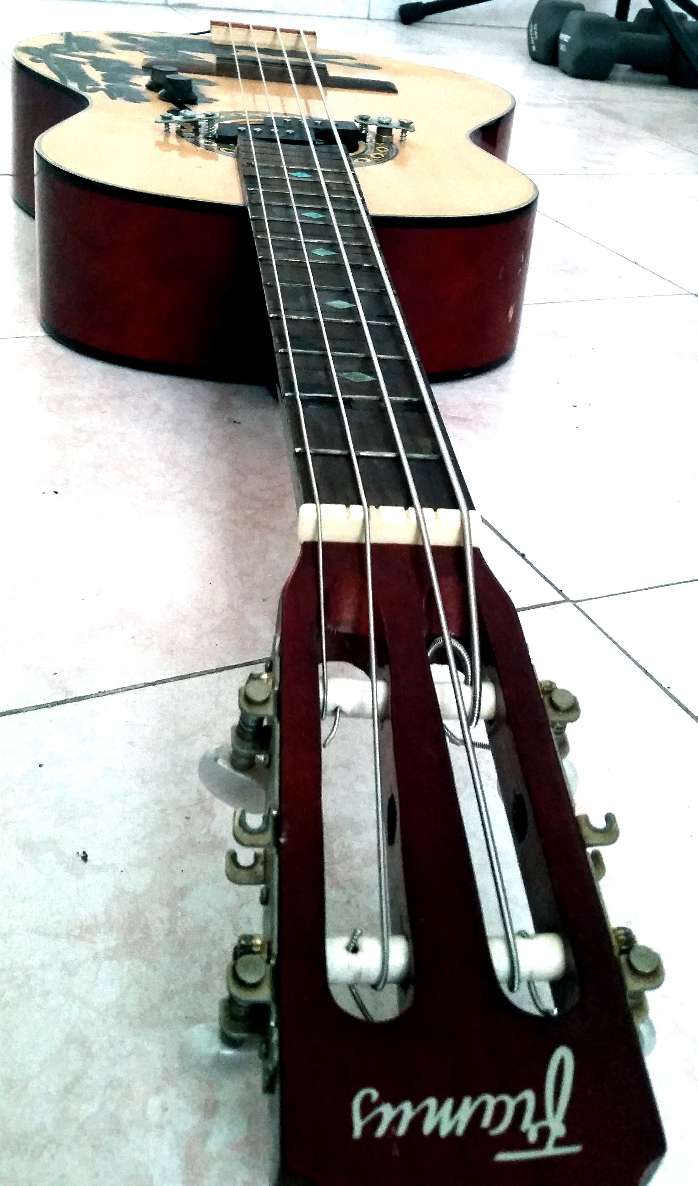 Picture of Acoustic Guitar to Electric Bass Guitar Conversion