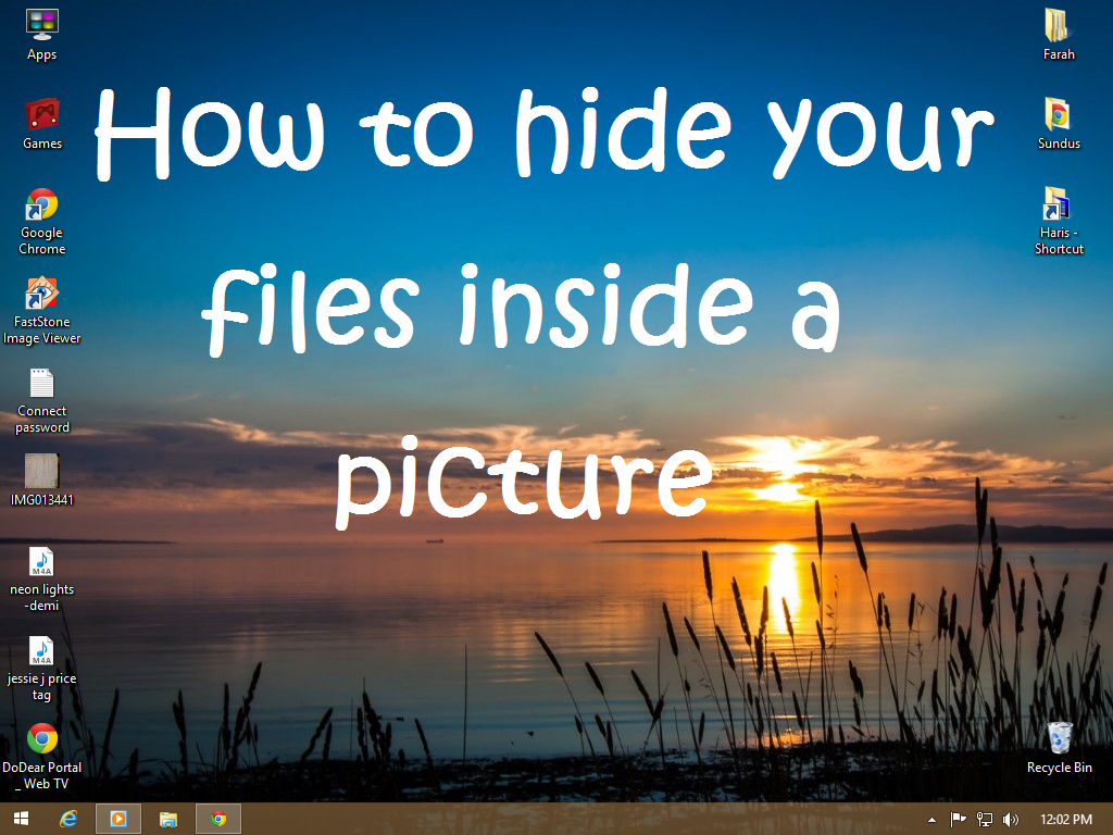 Picture of How to Hide Your Files Inside a Picture